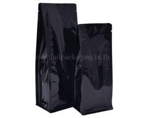กระเป๋าสีดำสดใสไม่มีซิป