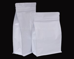 ถุงสีขาวมีซิป
